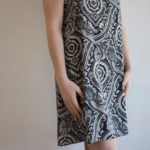 Women's Black and White Medium Philosophy Dress